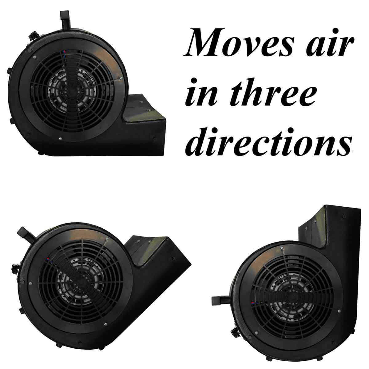 Hawk Industrial Blower Moves Air in Three Directions