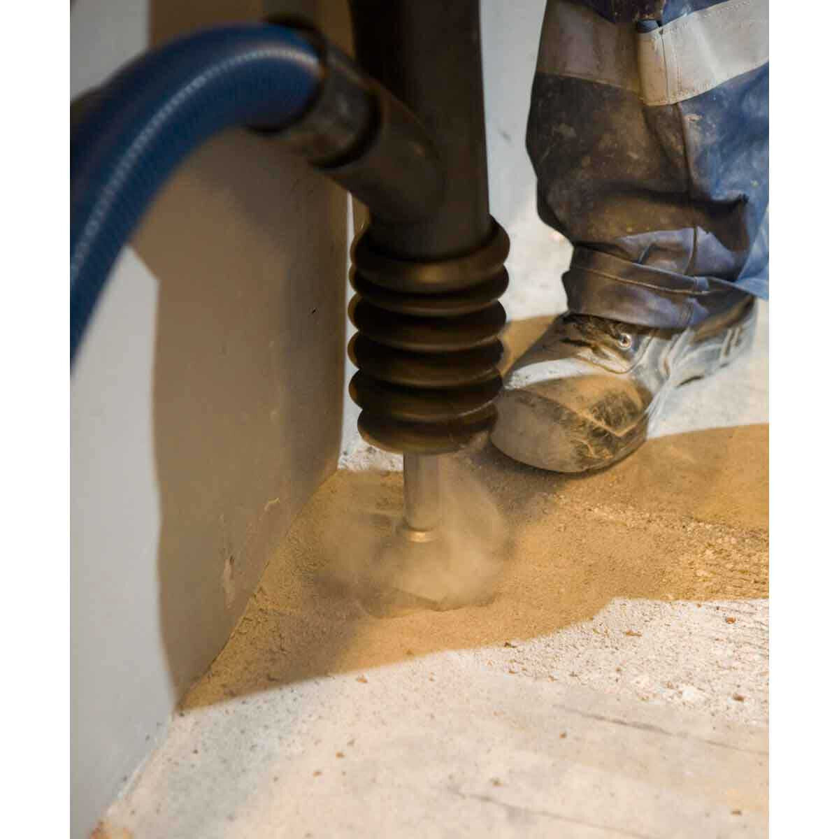Dust Suction for Demolition Hammers