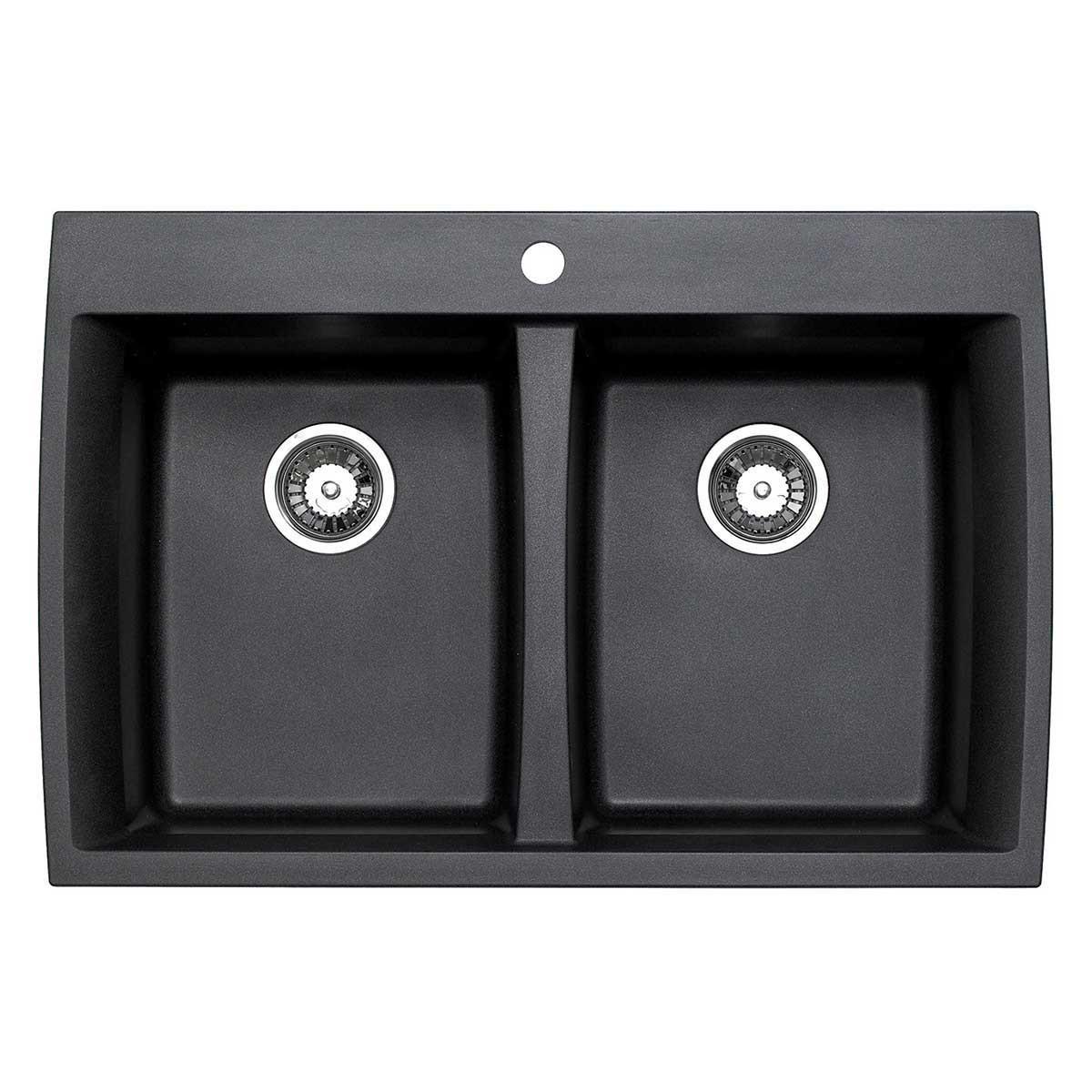 ACDM3302-D108 Artisan Granite Composite Double Bowl Dual Mount Sink