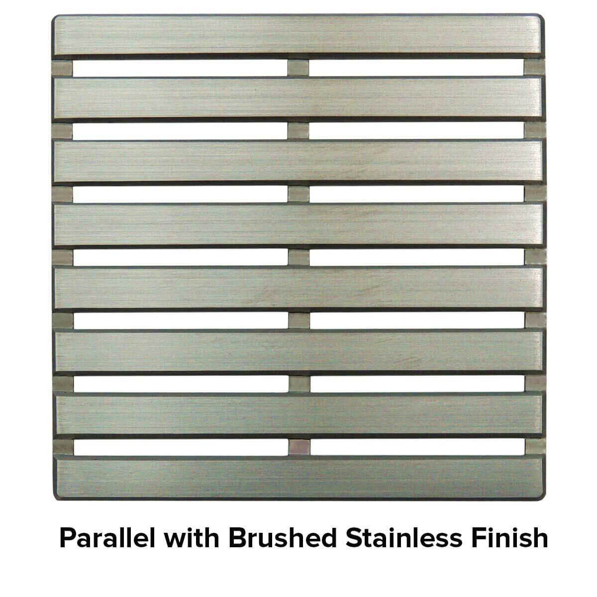 USG 4 inch Shower Grate Brushed SS Parallel