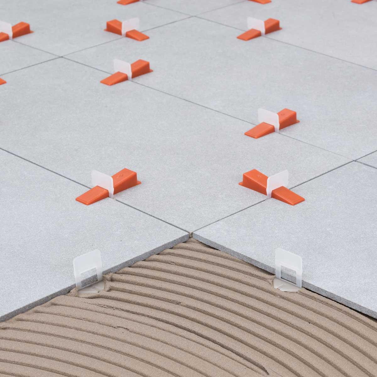 Raimondi RLS floor leveling system wedge and strips lippage free floor