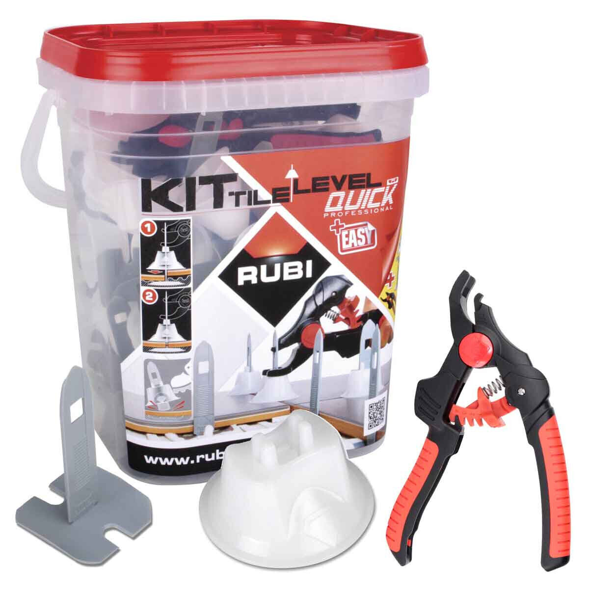 02941 Rubi Tile Level Quick Kit pliers caps and straps lippage free floor