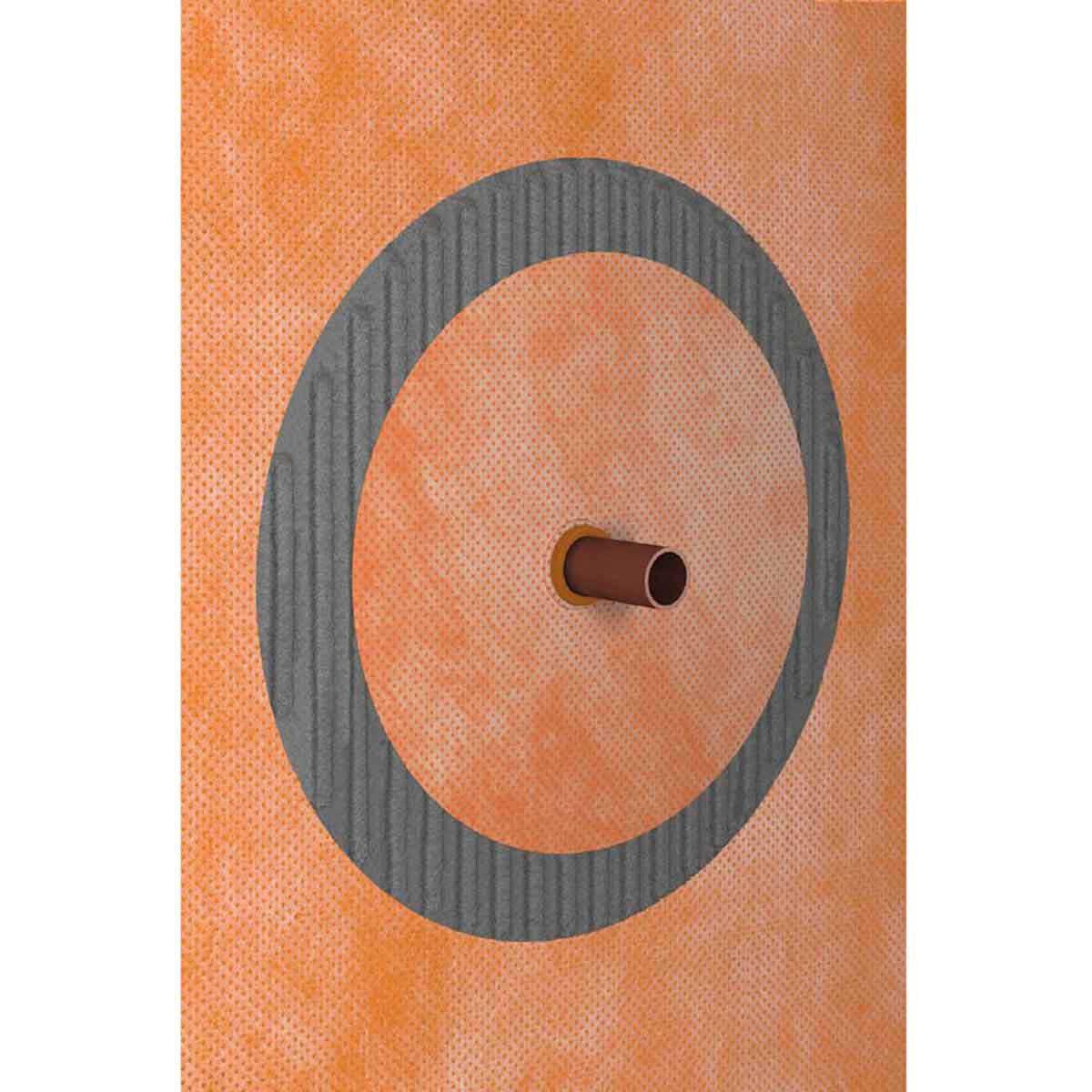 Schluter Kerdi Pipe Seal Installed