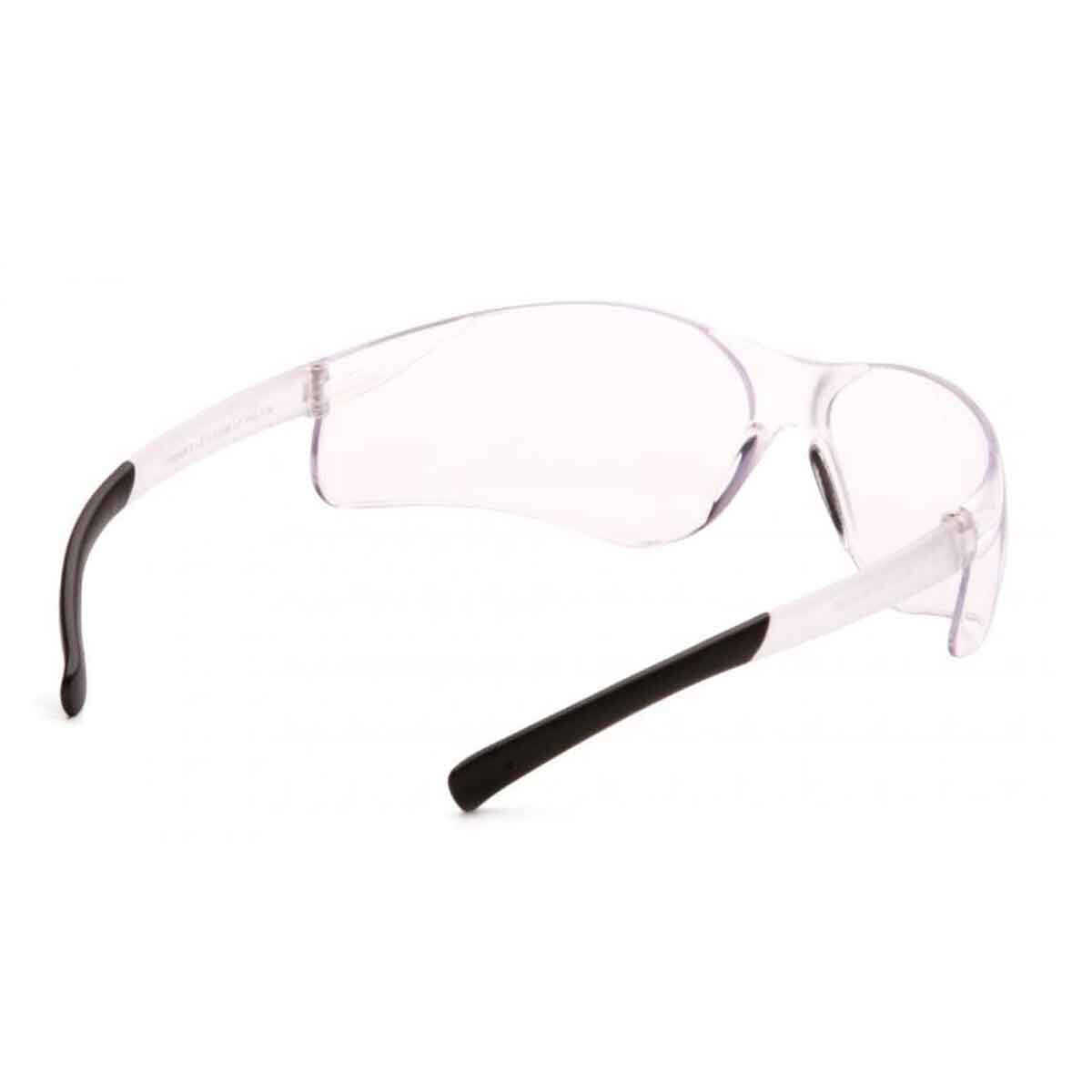 Pyramex Ztek Clear Eye Protection Safety Glasses Rear View