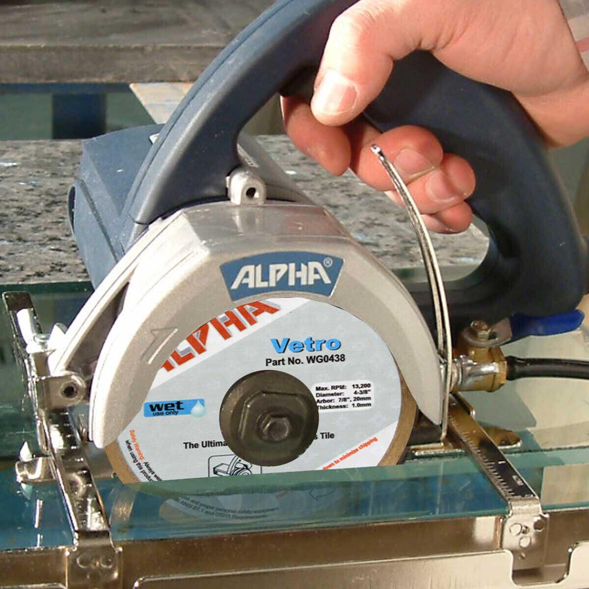 Alpha Vetro cutting Glass circular saw