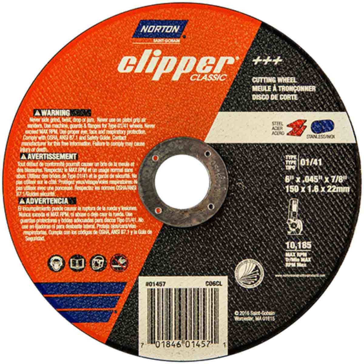 Norton Classic 6 inch abrasive cut-off wheels