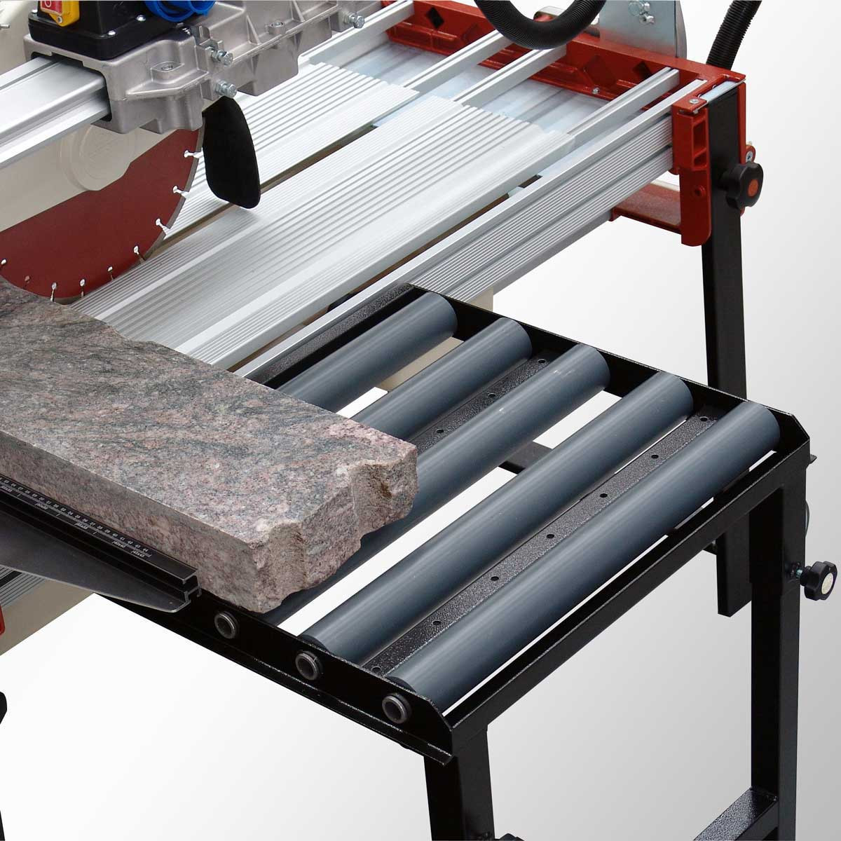 Raimondi Zipper Advanced Rail Saw optional rolling extension table