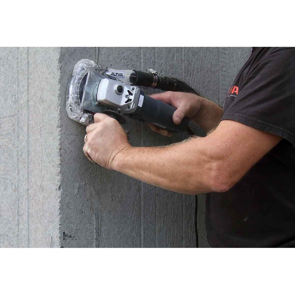 Grinding Concrete with Alpha EcoGuard