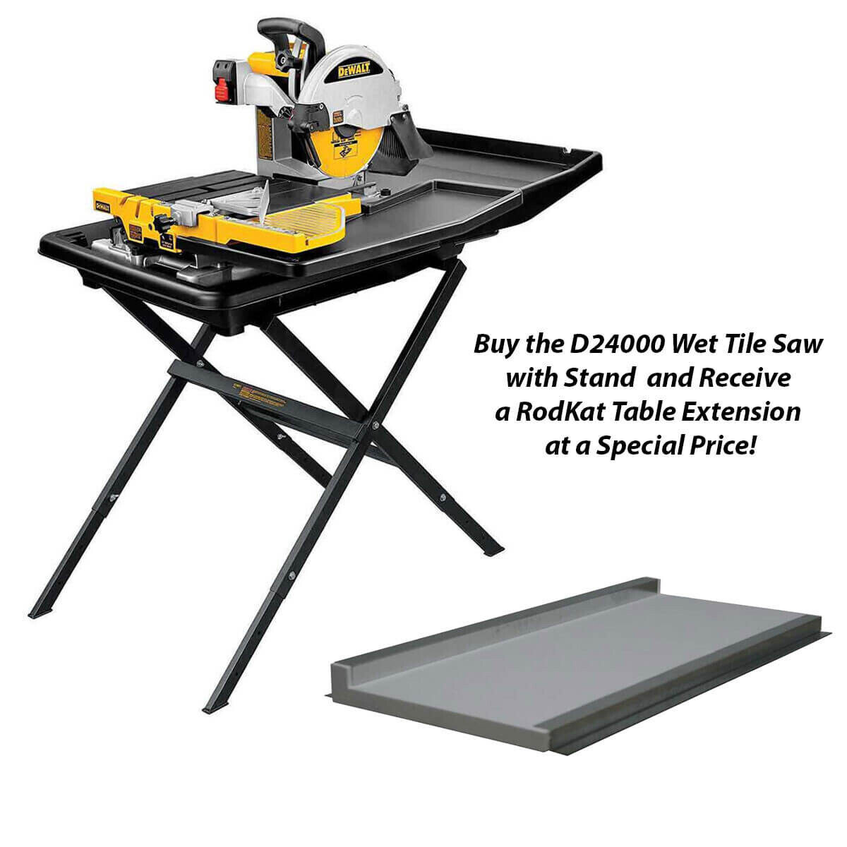 Dewalt Wet Tile Saw, Stand and Table Extension ...