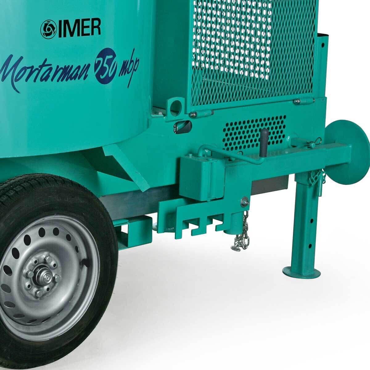 IMER Mortarman 750 Mixer Mixes 1600 lbs of mortar, dry pack, stucco, or sand & cement