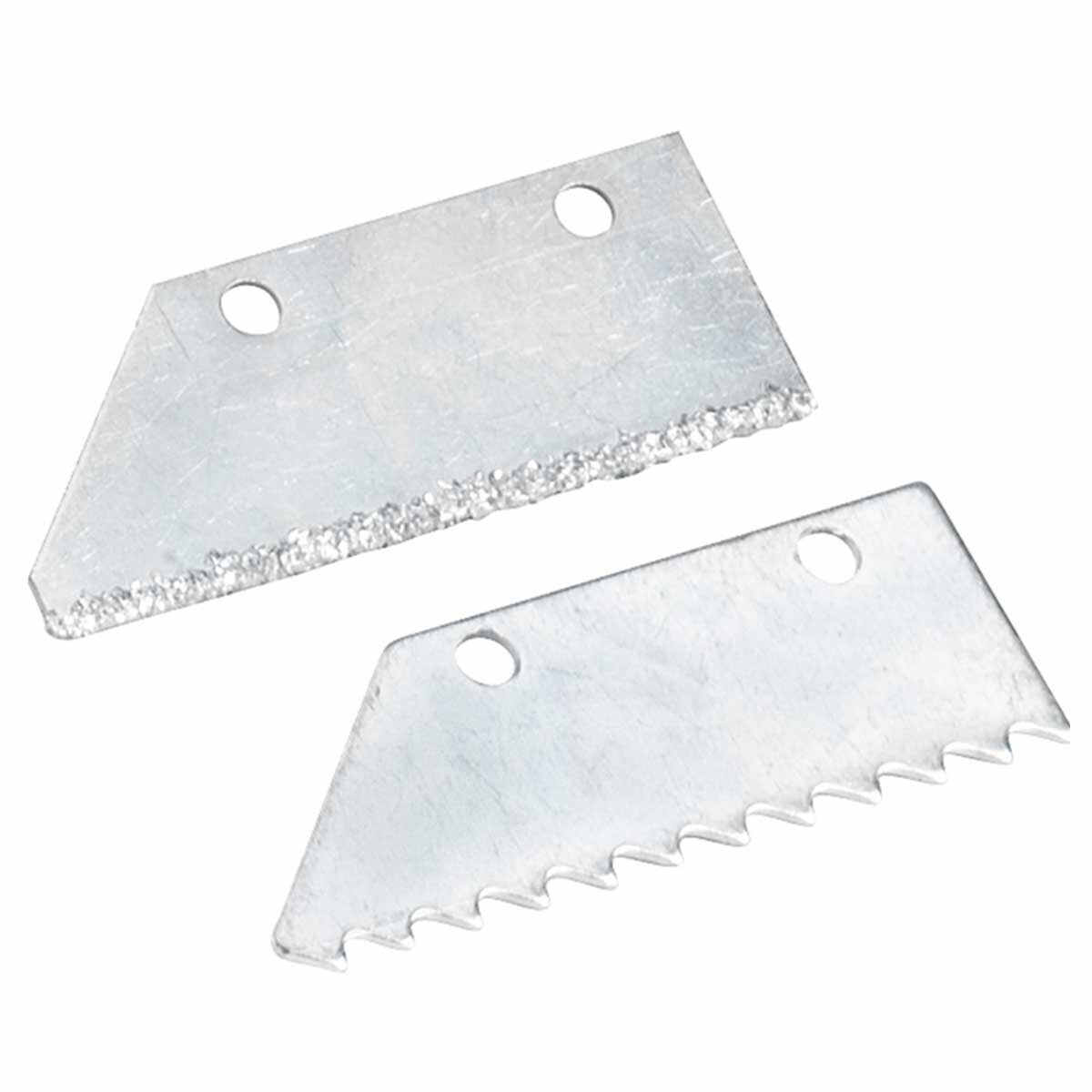 grout saw with 1 carbide grit-edge and 1 steel tooth blade Use 2 blades for floor grout removal, 1 blade for walls