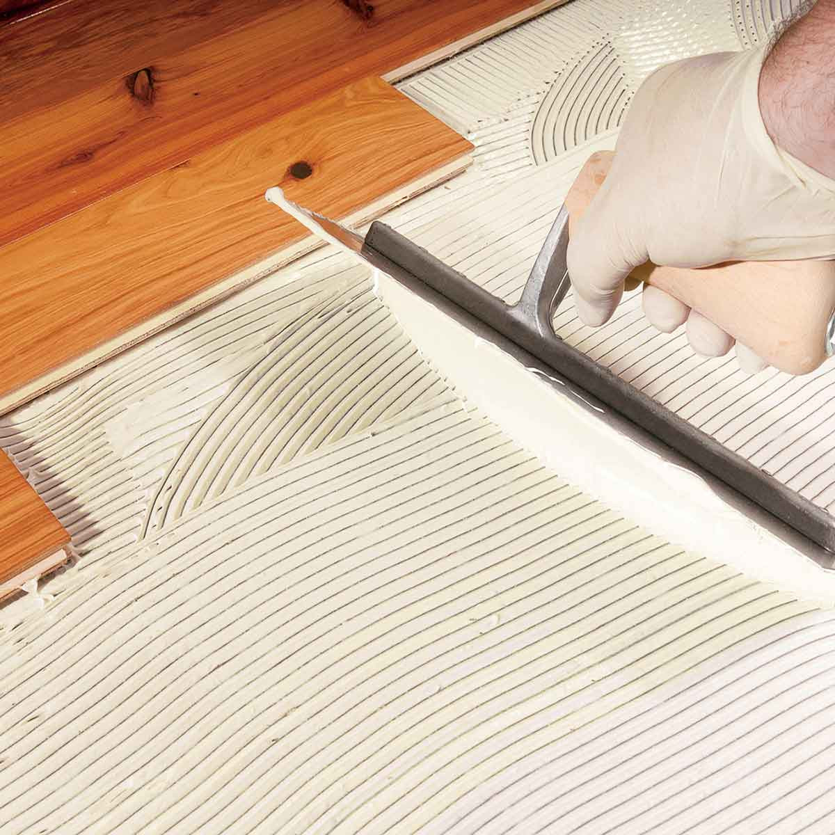 Bostik GreenForce moisture control membrane notched trowel application