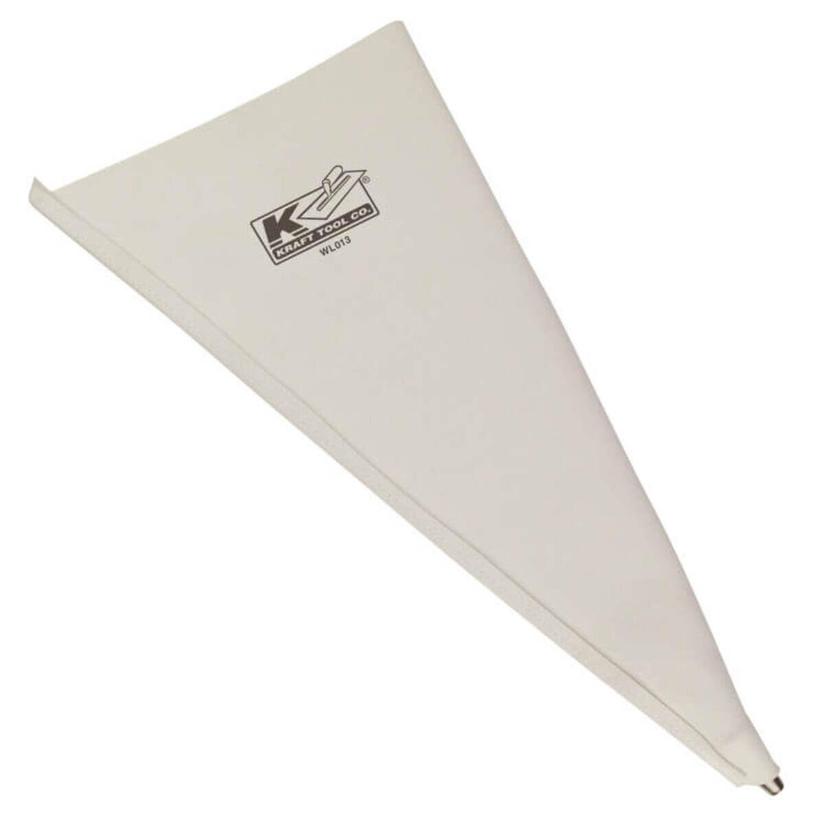wl013 kraft heavy duty vinyl grout and mortar bag includes a metal tip for easy use.