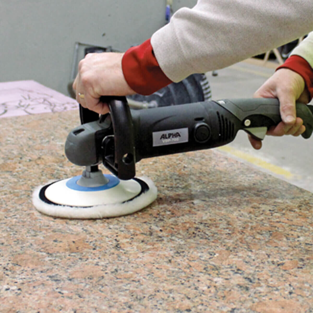 Polishing Engineered Stone with VDP-700 Rotary Polisher