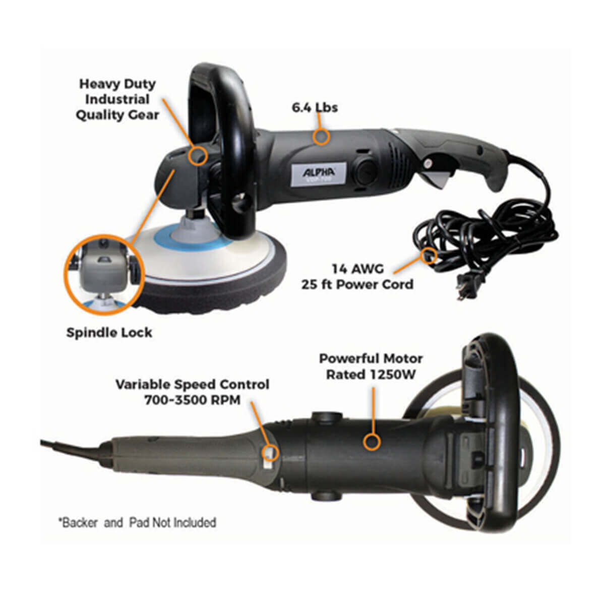 Alpha VDP-700 Variable Speed Polisher Components