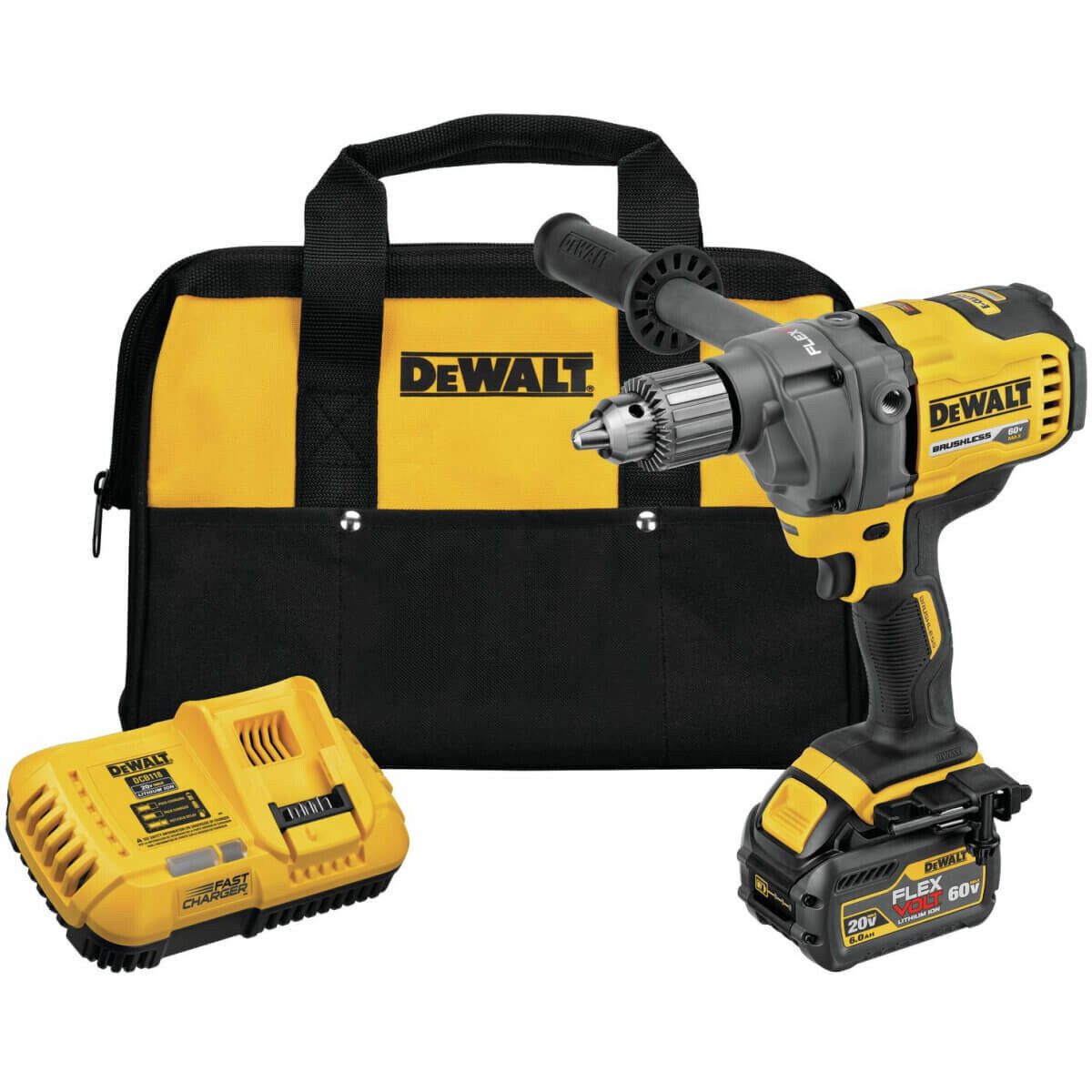 Dewalt DCD130 60V MAX Mixer/Drill with Battery and Carrying Bag