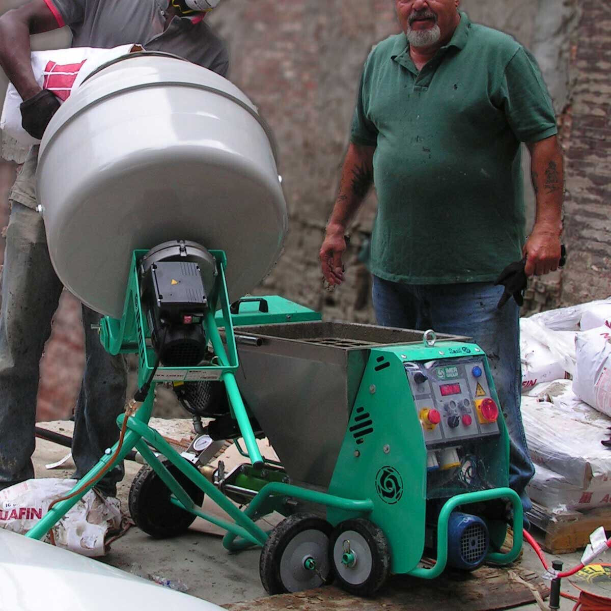 Imer Cement Mixer In Use