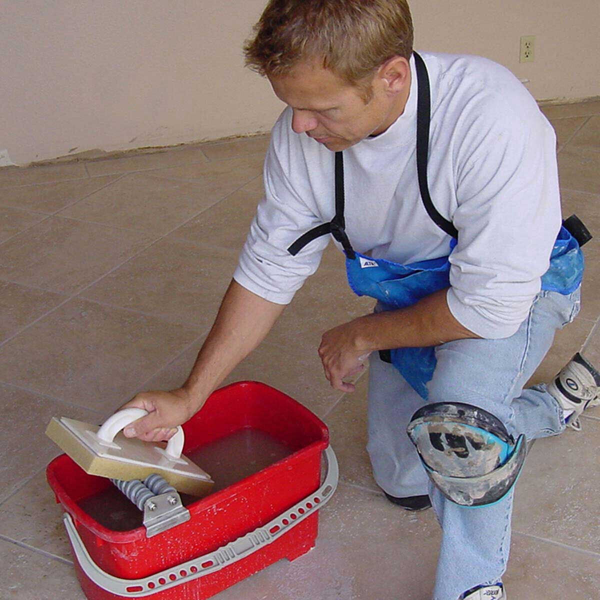 Grout Caddy Cleaning System In Use