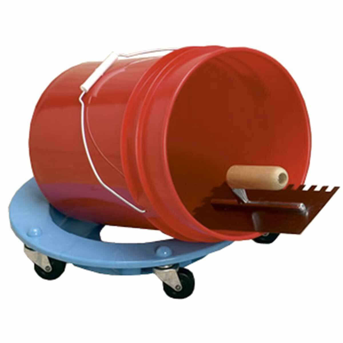 bucket dolly Fits all 5 and 3-1/2 gal buckets, will hold a bucket on a 45 degree angle, Sturdy and stable 300 lbs capacity, 5 casters, Bucket d