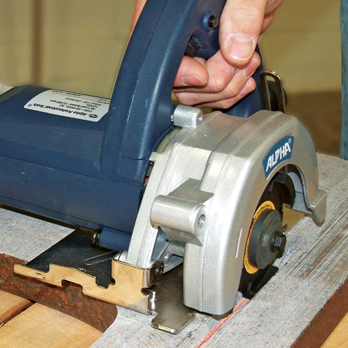Alpha AWS110 Tile Circular Saw Cut Tile