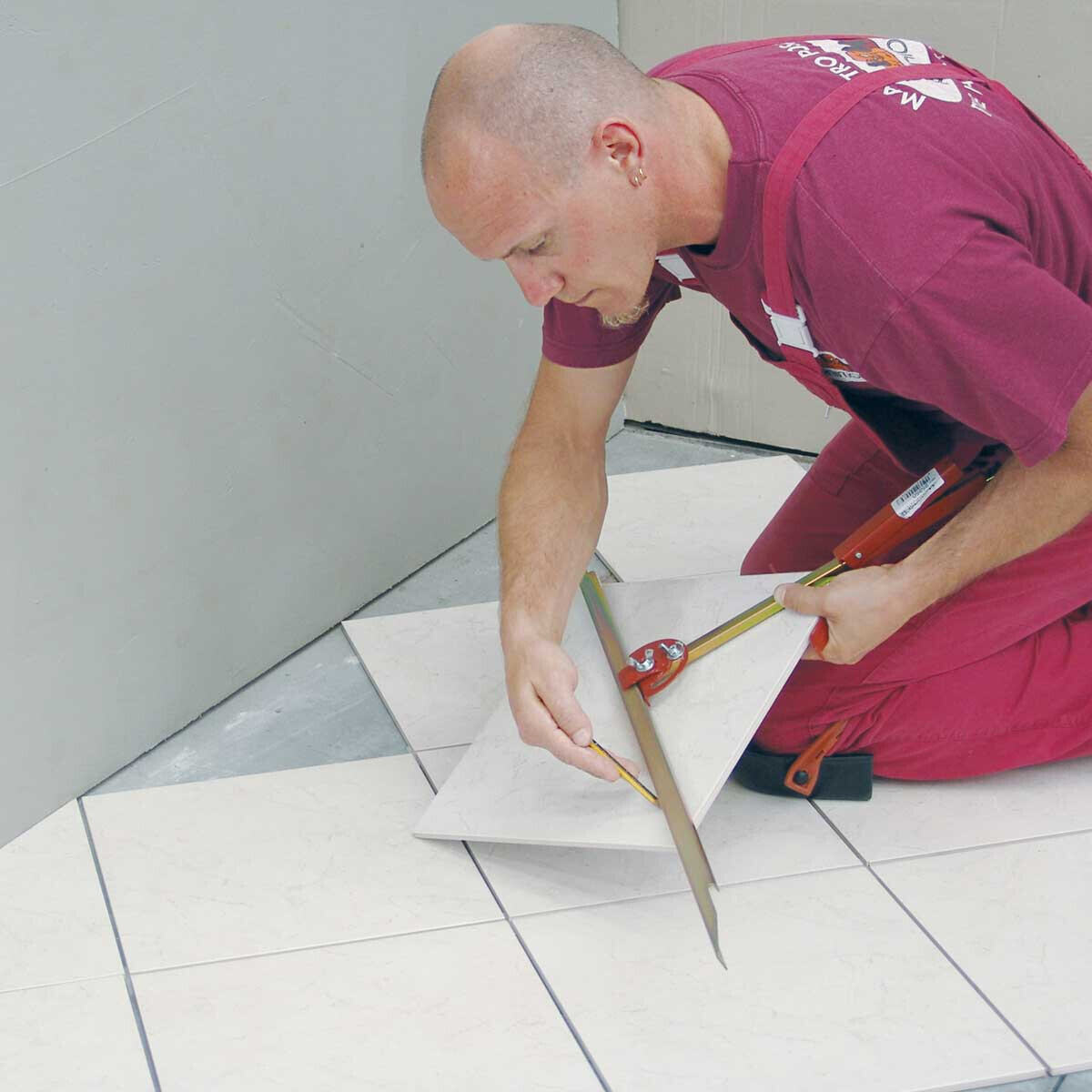 Marking Tile for Floor Layout with All Angle Guide