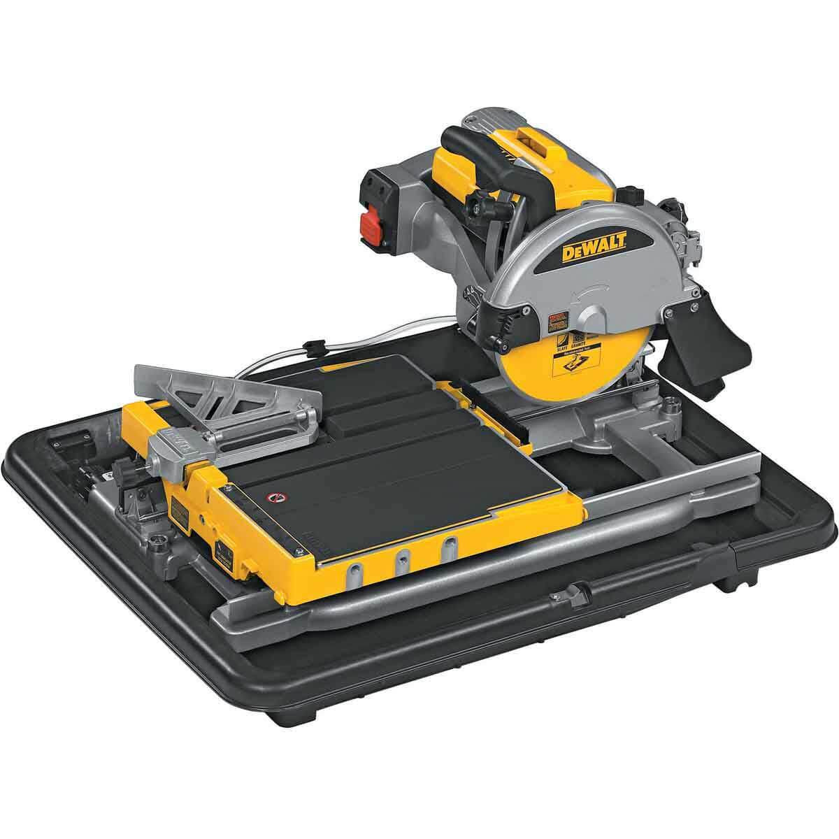 Dewalt Tile Saw without water tray