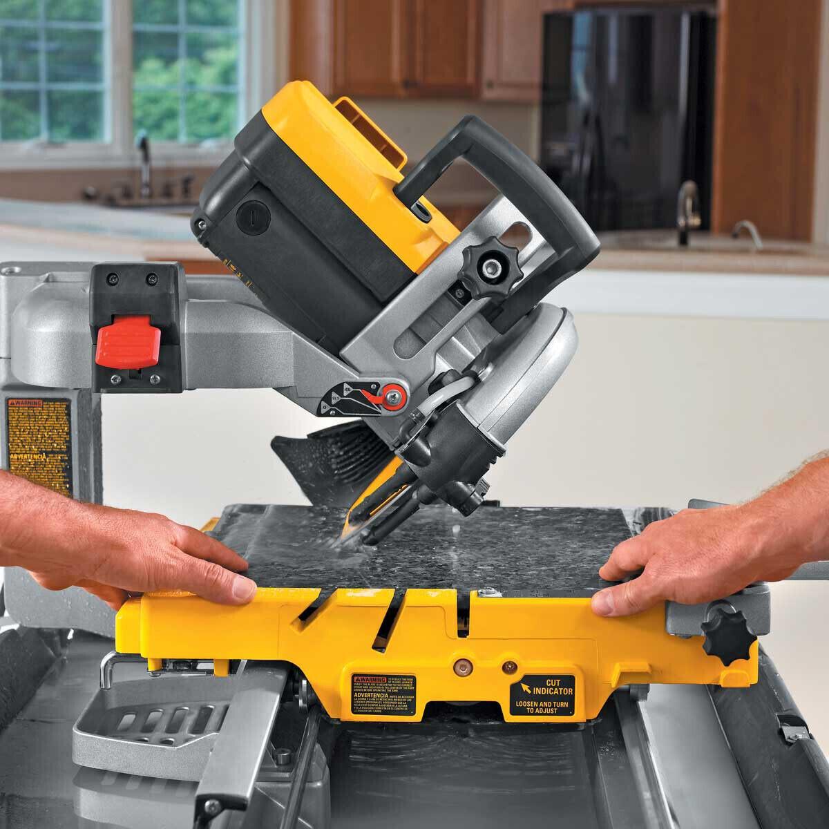 D24000 Tile Saw 45 degree miter cut