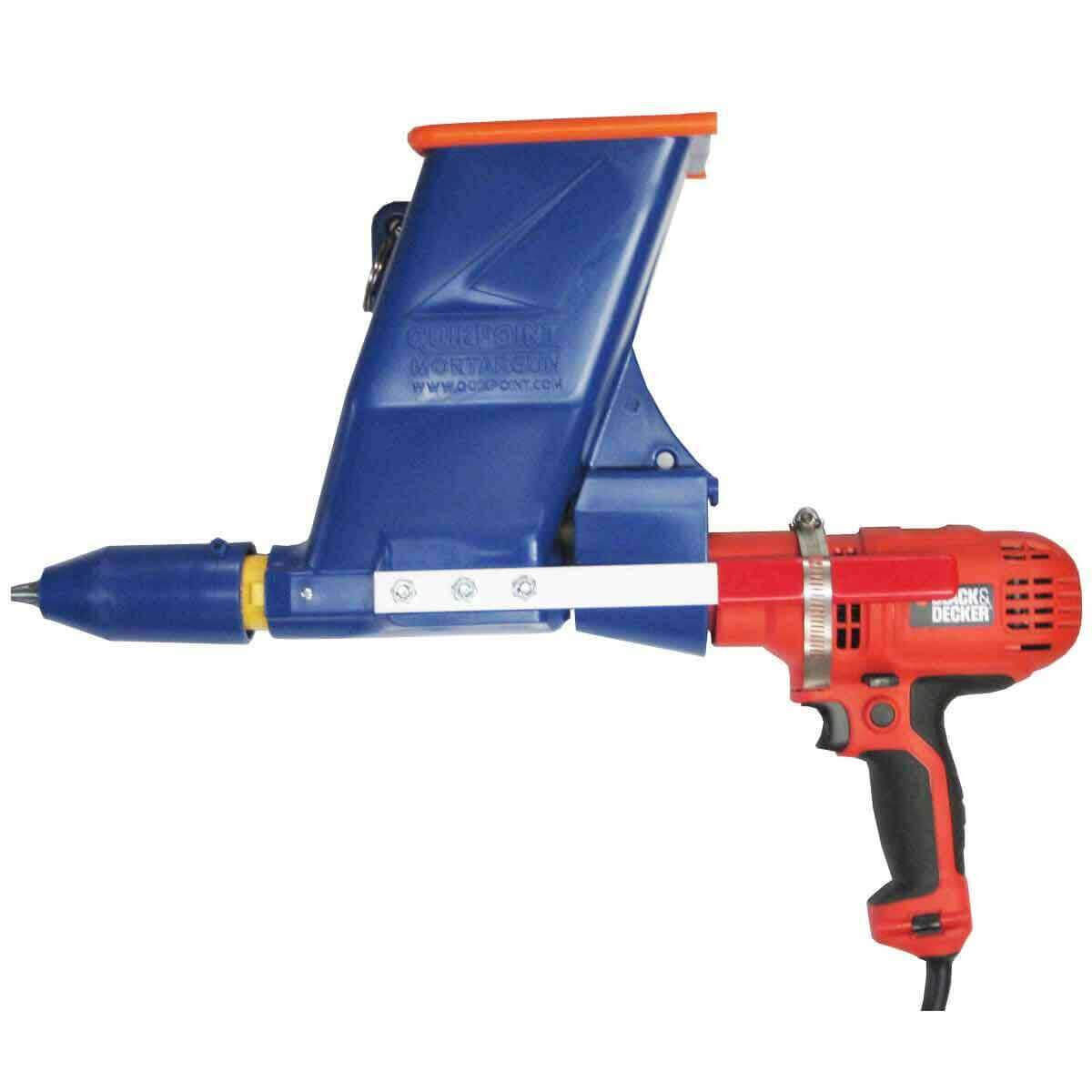 Quikpoint Mortar Gun with Black and Decker Drill