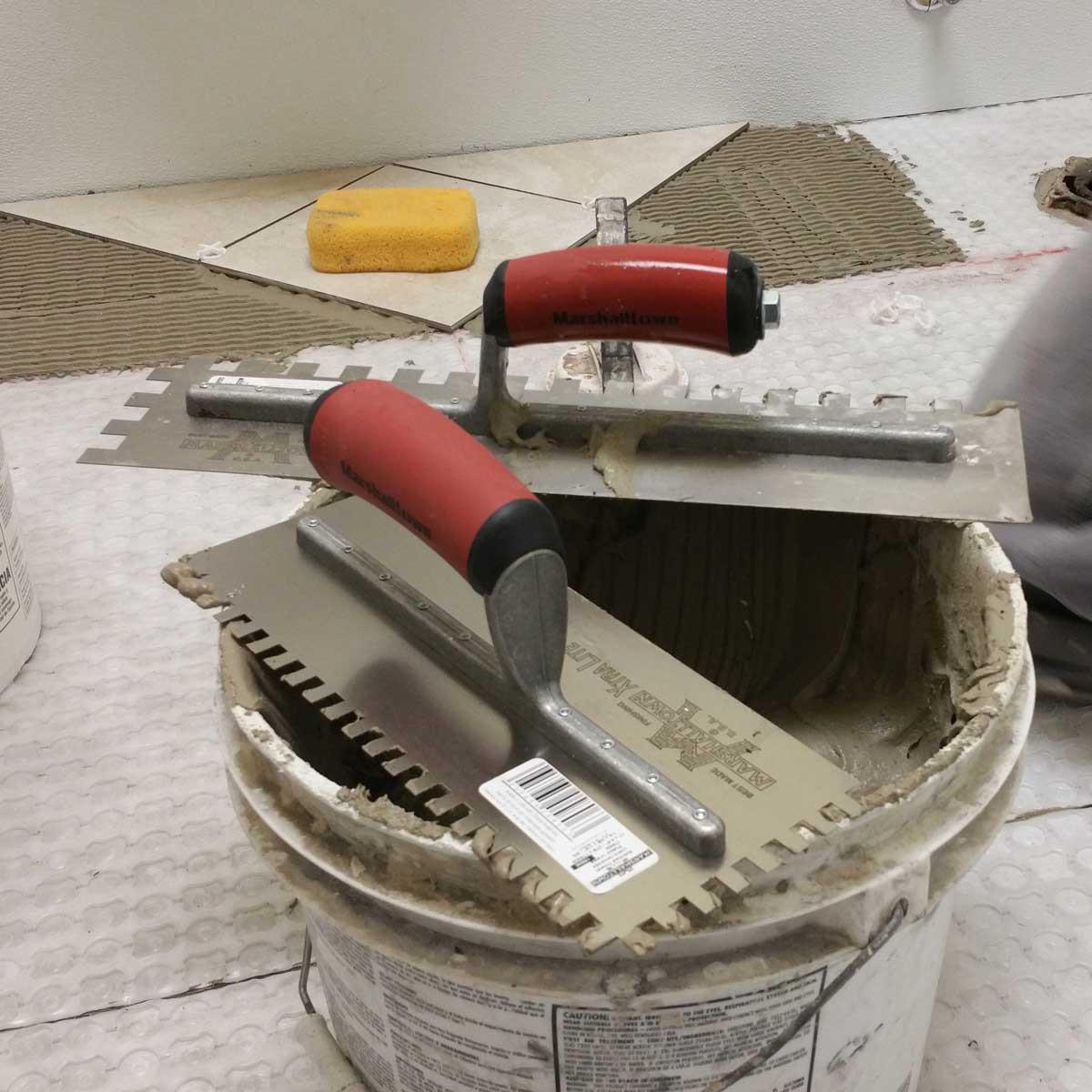 Marshalltown Durasoft Handle Trowels for Installing Tile