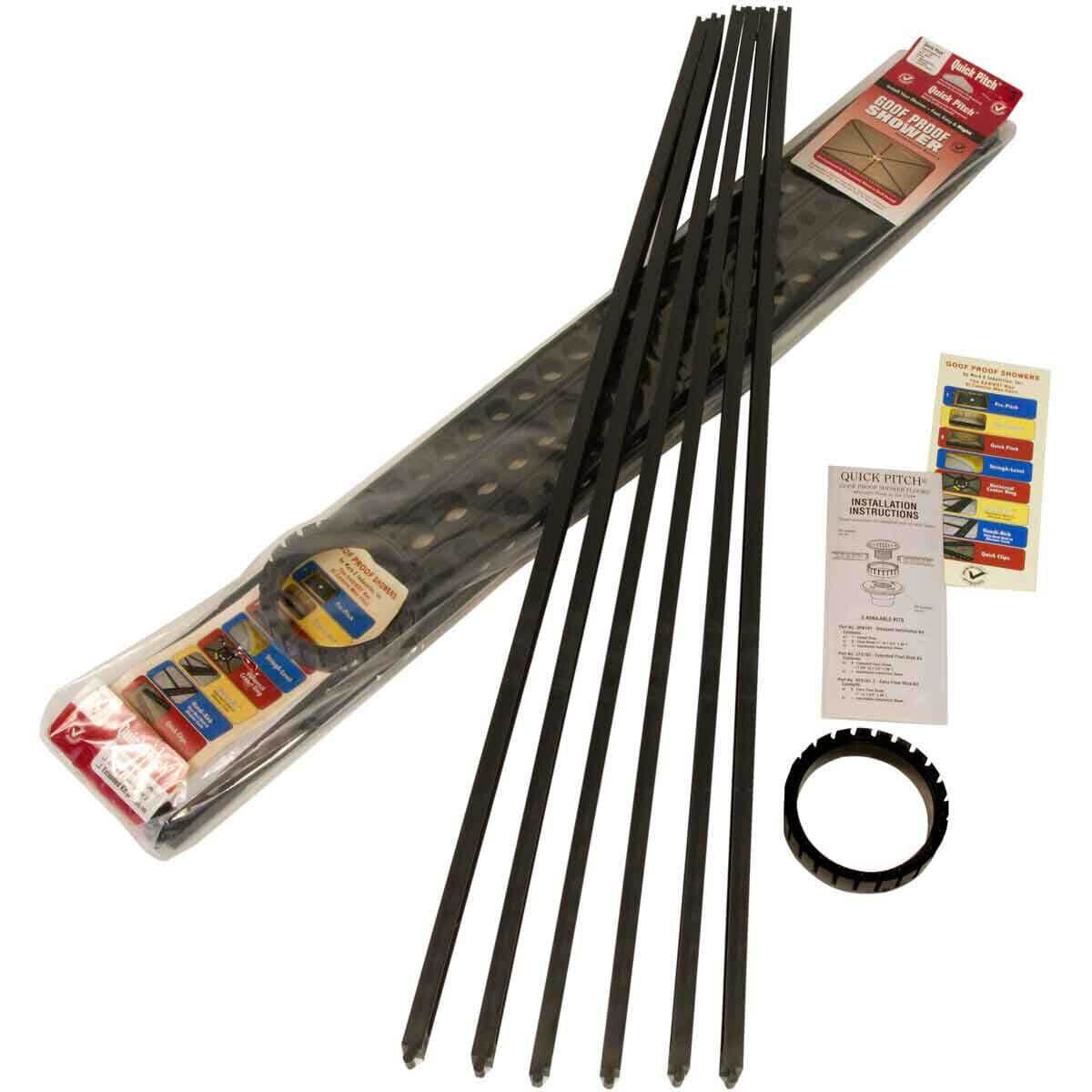 Pitch Perfect Shower Pan.6382 Quick Pitch Kit Shower Floor Drainage Kit