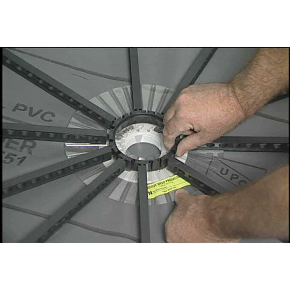Quick-Pitch Shower Drain Wheel Hole