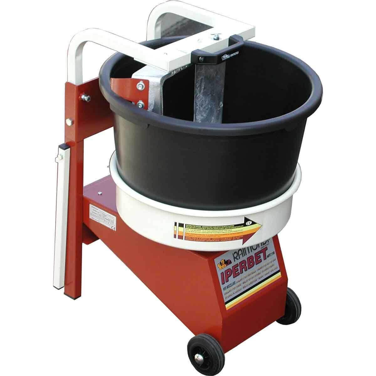MXJPM Raimondi Iperbet Job Site Power Mixer For mixing adhesive, dry pack, thinset, mortar, concrete, epoxy, quartz plaster, etc