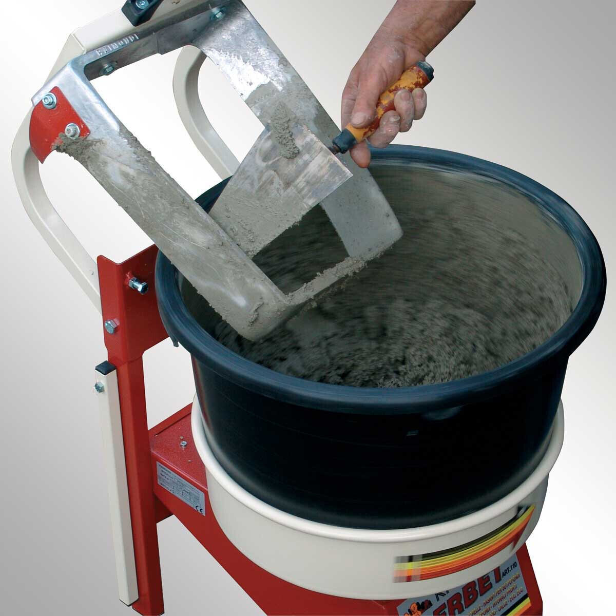 Raimondi Iperbet Allows you to mix thinsets, mortars, dry pack, adhesives, epoxy, concrete, and quartz plaster while you're spending your time on another task