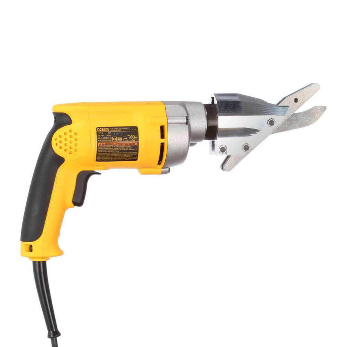 Dewalt D28605 Powerful, 6.5 Amp, all ball-bearing motor for increased power and long life when cutting cement fiber siding