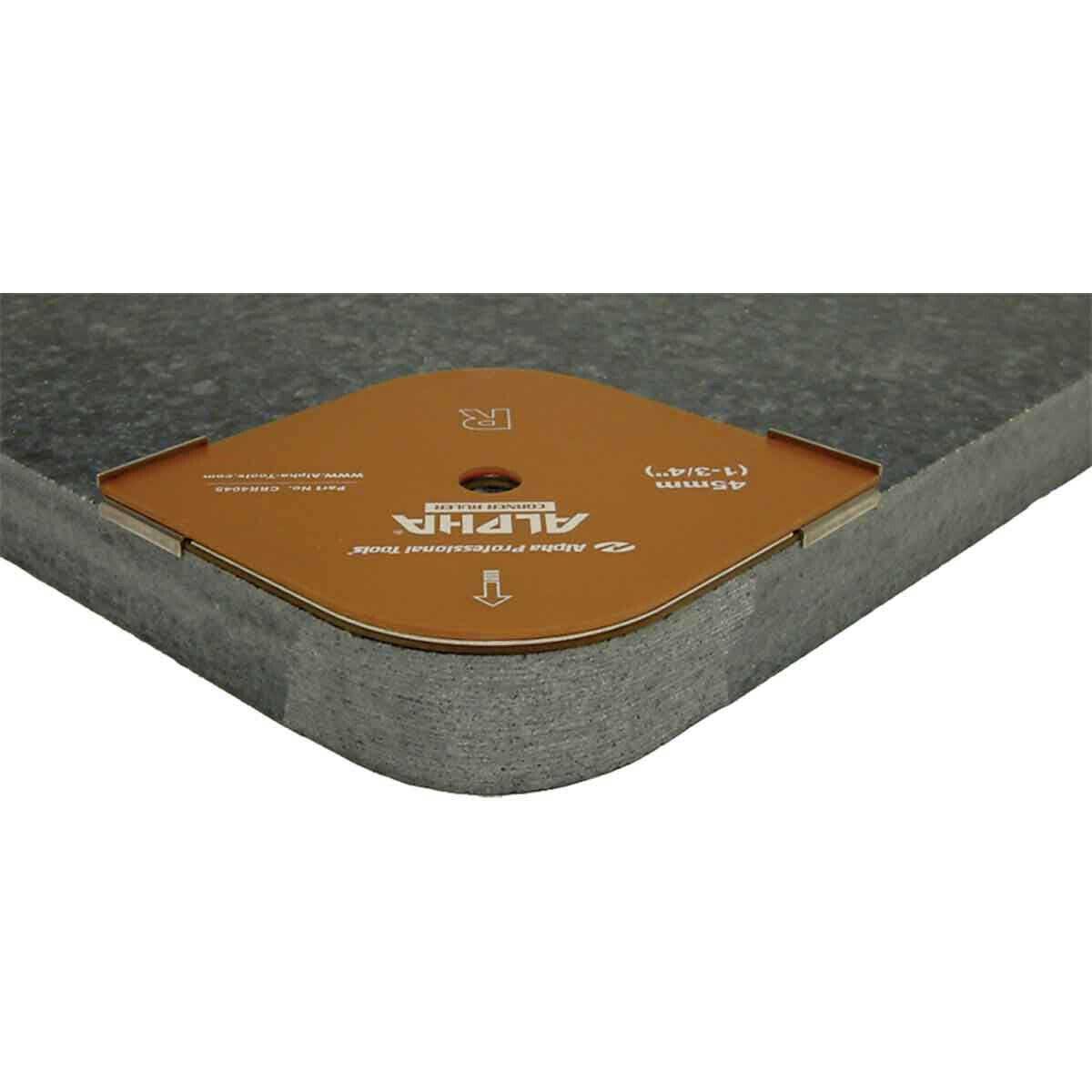 Alpha Straight Corner Ruler for Stone Profiling