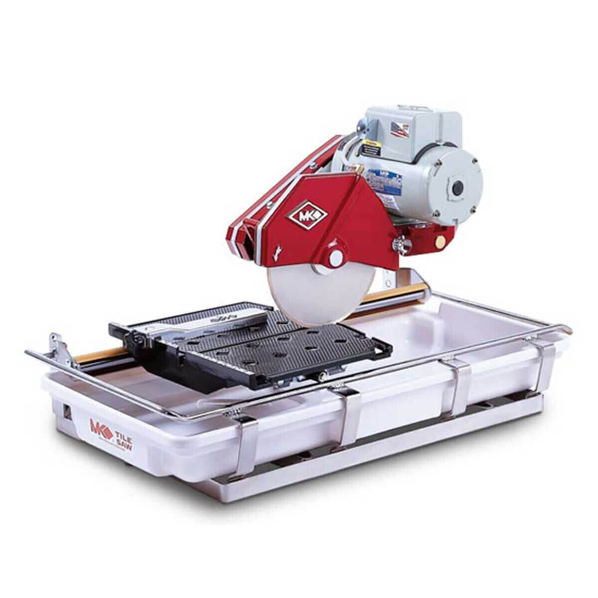 151991 MK-101 Wet Tile Saw Fully enclosed high torque, fan-cooled motor, Permanently lubricated, dual-sealed, heavy-duty blade shaft bearings