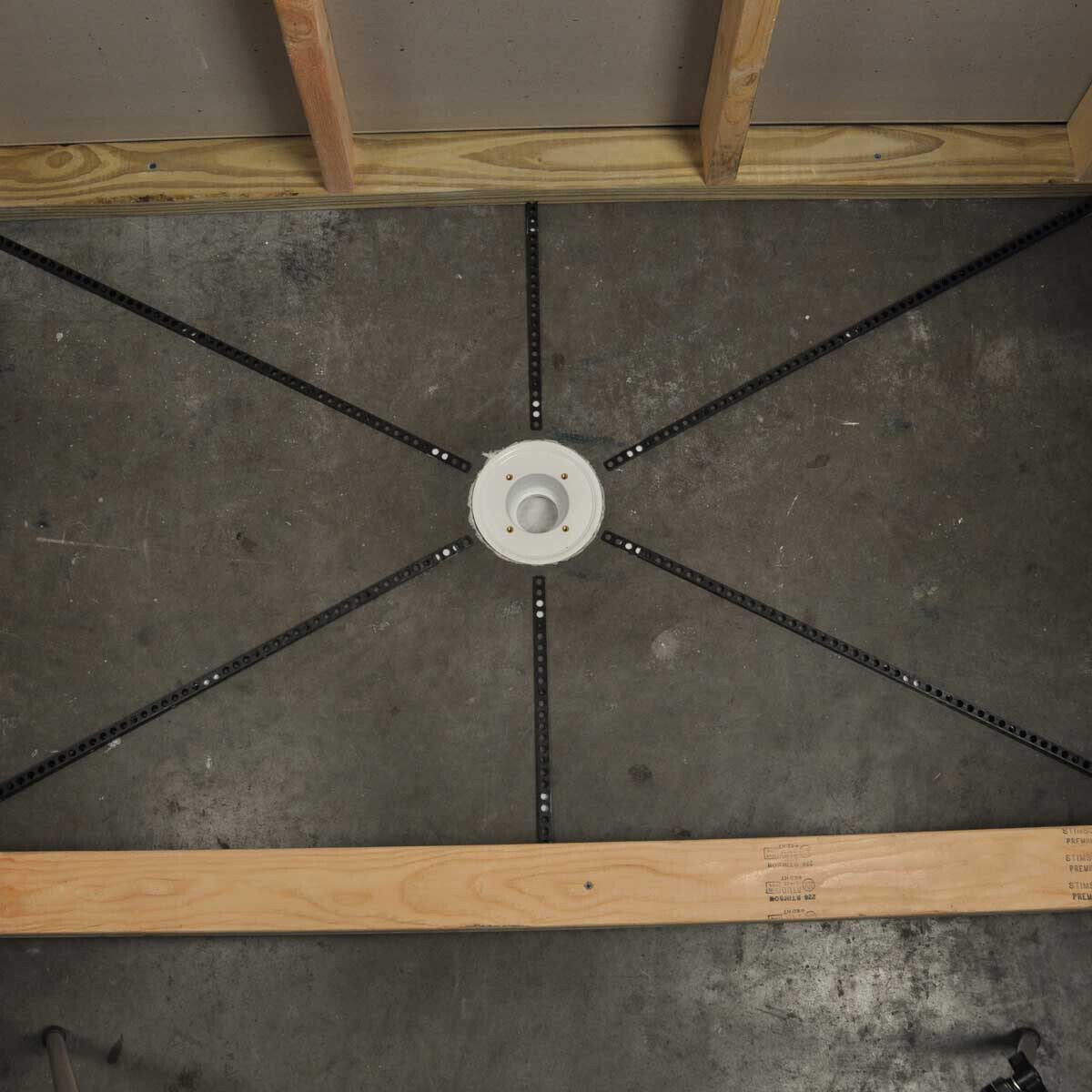 Pre-Pitch Shower Pan Kit Installed