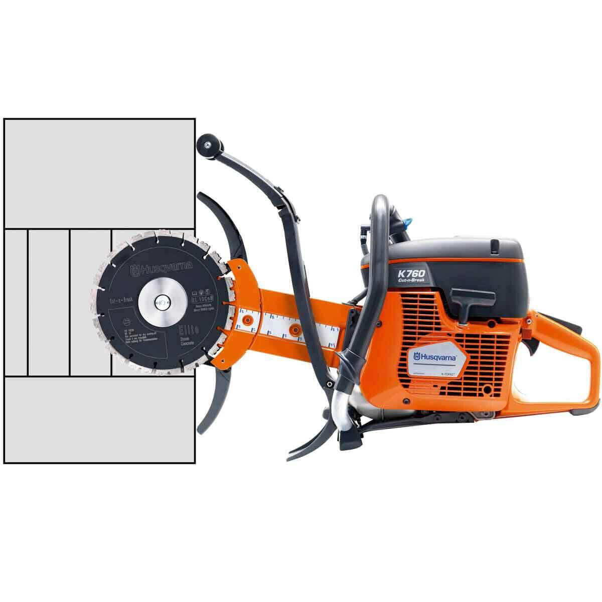 Husqvarna K760 Cut-n-Break Concrete Saw Cutting Depth