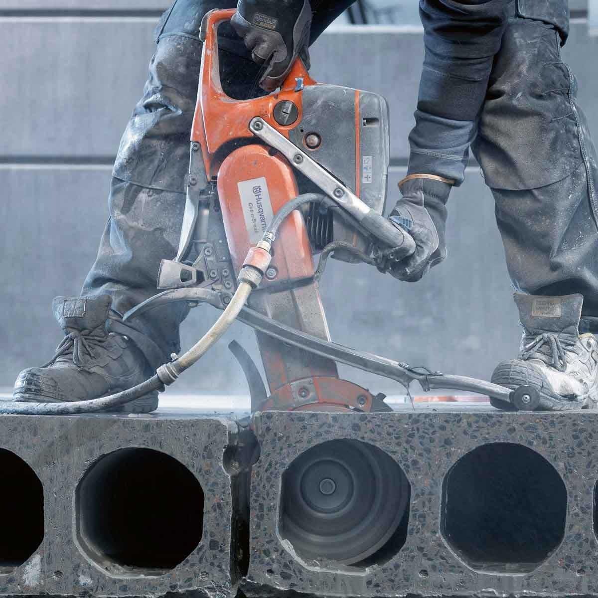Cutting Concrete Channels with K760 Cut-N-Break