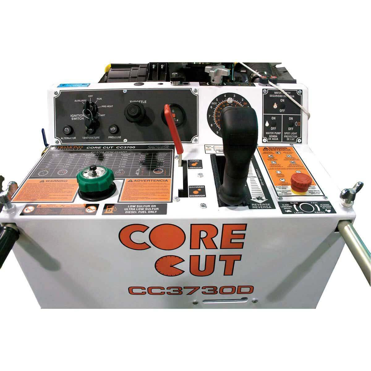 Core Cut CC3700 Control Panel