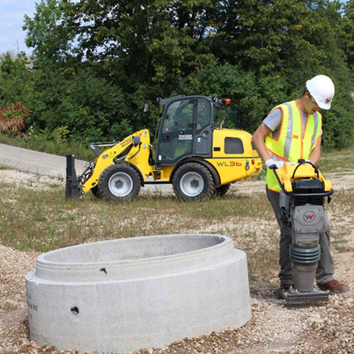 Wacker Neuson Rammer Compaction for Pipe Installation