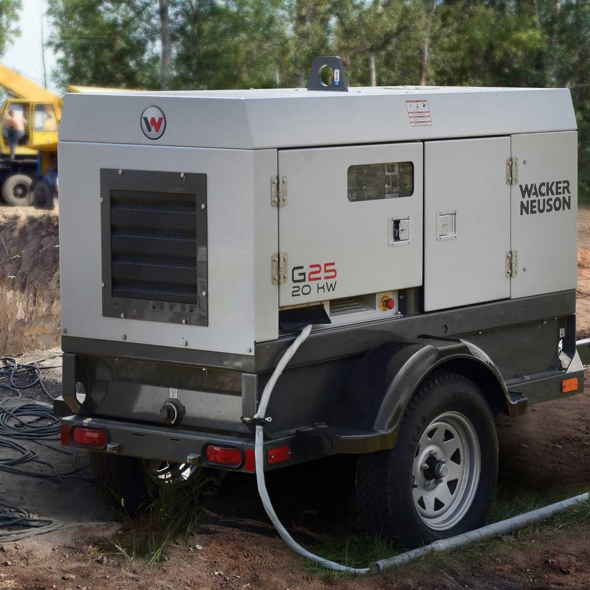Wacker Heavy Duty G25 Mobile Generator