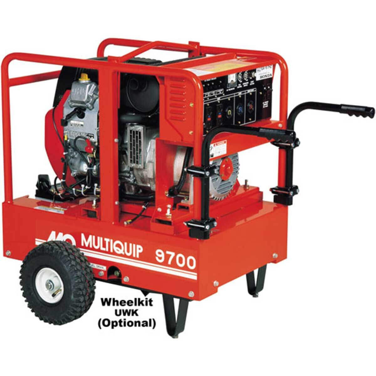 Multiquip GA97HE Generator with Optional Wheel Kit