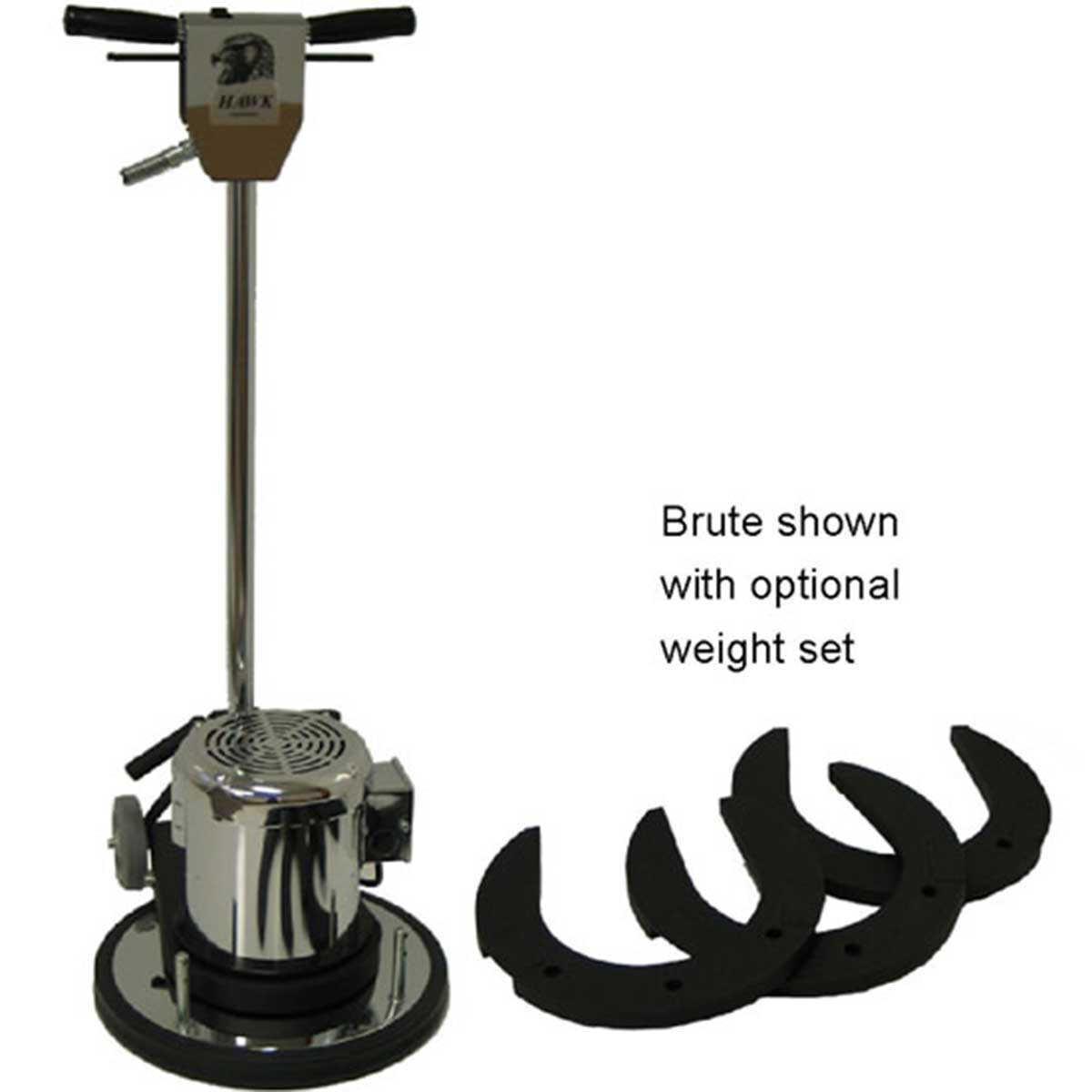 hawk brute floor machine weight set