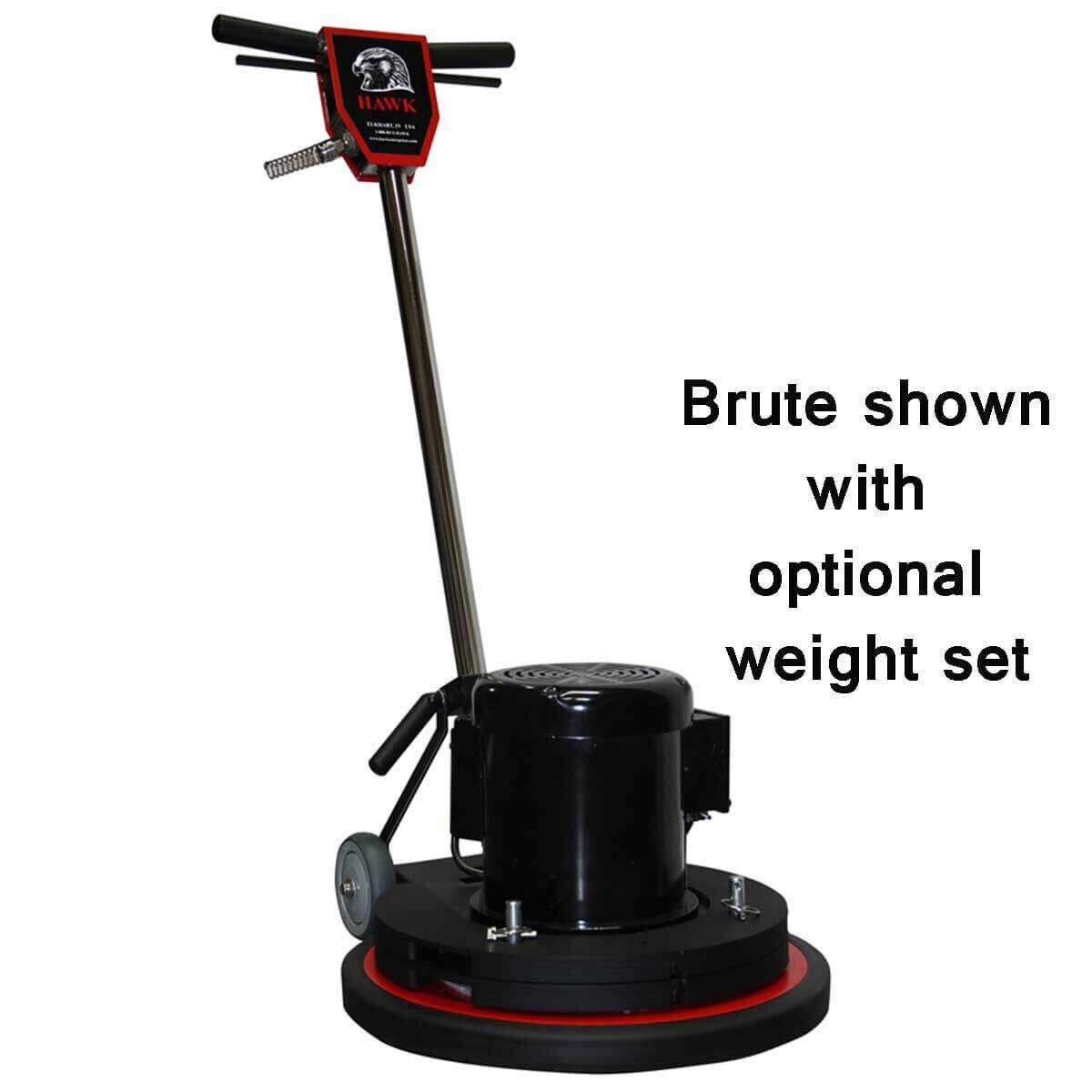brute floor machine with weight set