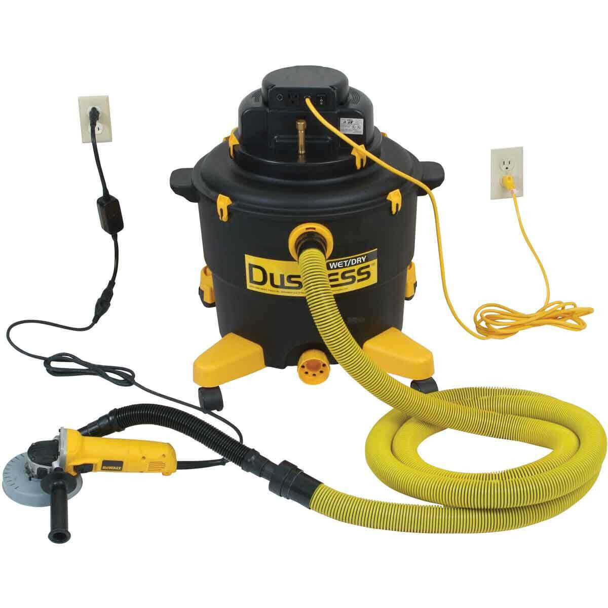 TeqVac Dustless Vacuum with Angle Grinder Set Up