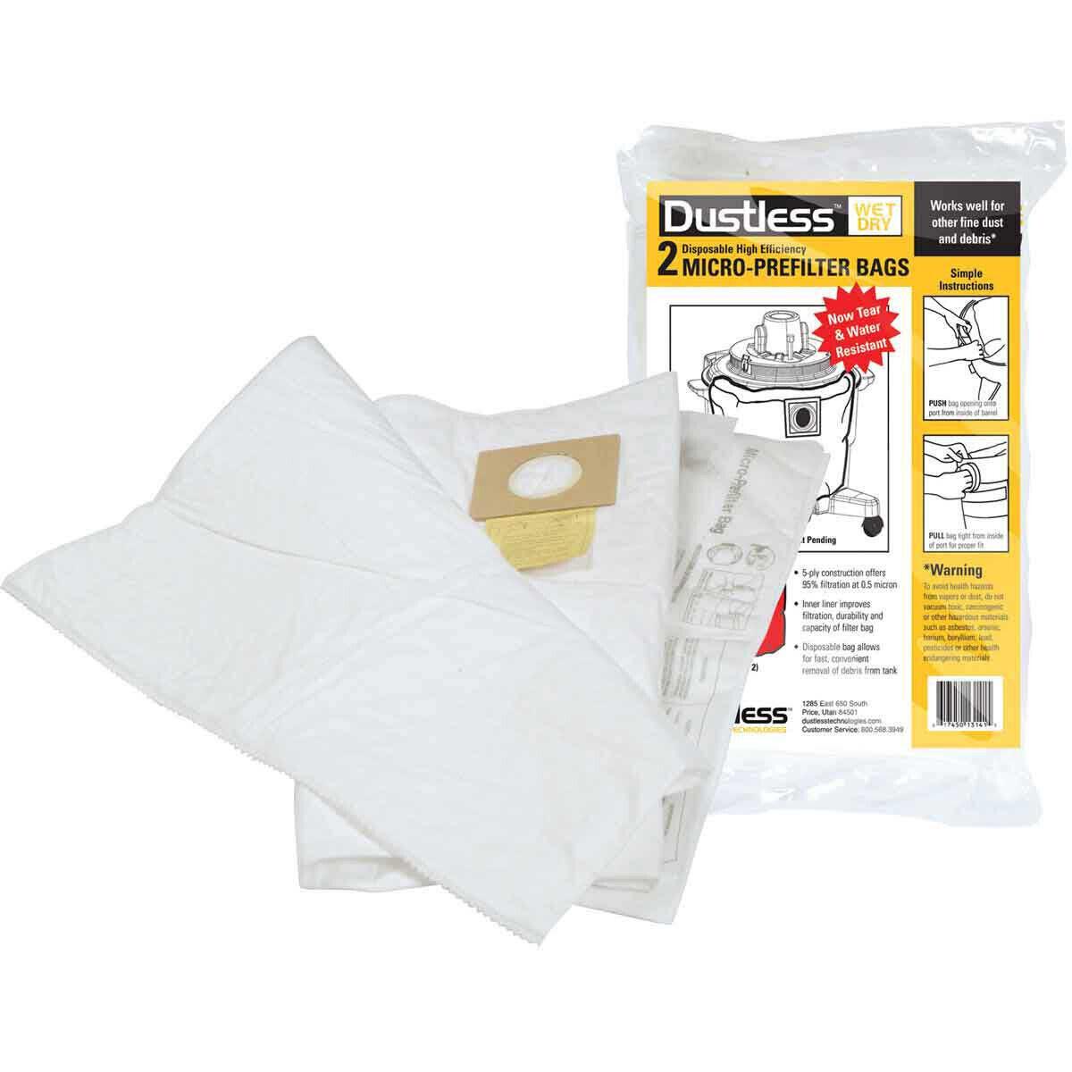 Diteq TeqVac Micro Pre-Filter Bag 2 Pack