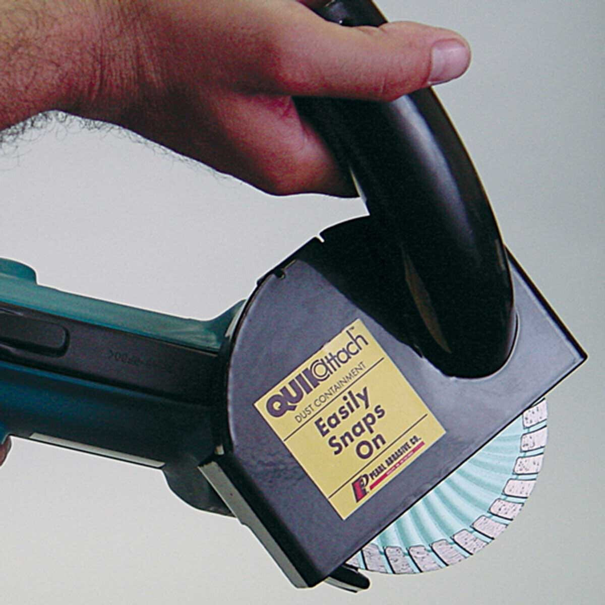 VACCUT45 Easily Snaps On Angle Grinder