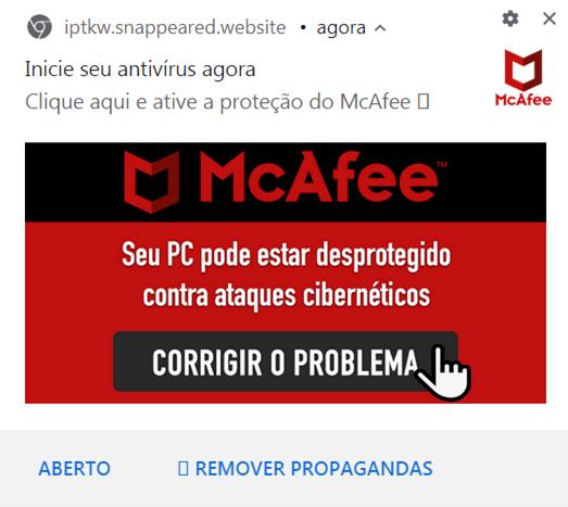 圖 5:針對巴西使用者而在地化的 McAfee 廣告。Figure 5. McAfee advertisement localized for users in Brazil