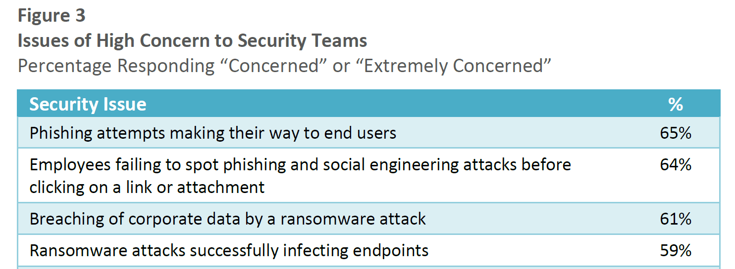 Survey: Phishing Ransomware Attacks Are Top Concerns
